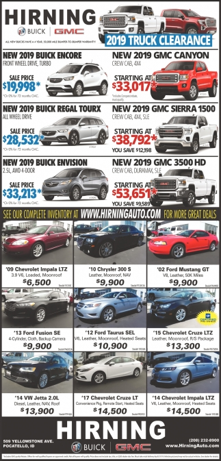 2019 Truck Clearance