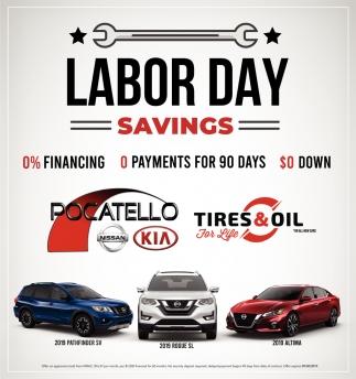 Labor Day Savings