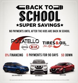 Backk to School Super Savings