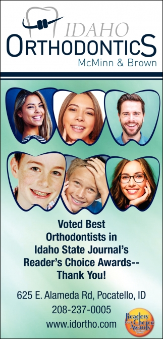 Voted Best Orthodontists in Idaho State Journal's Reader's Choice Awards