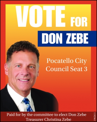 Vote for Don Zebe