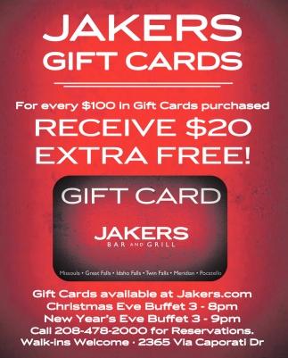 Jaker Gift Cards