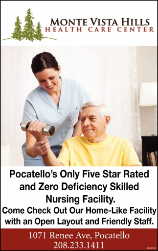 Pocatello's Only Five Star Rated Skilled Nursing Facility
