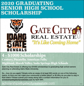 2020 Graduating Senior High School Scholarship