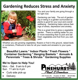 Gardening Reduces Stress and Anxiety