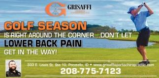 Golf Season is Right Around the Corner