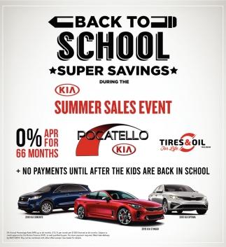 Back to School Super Savings
